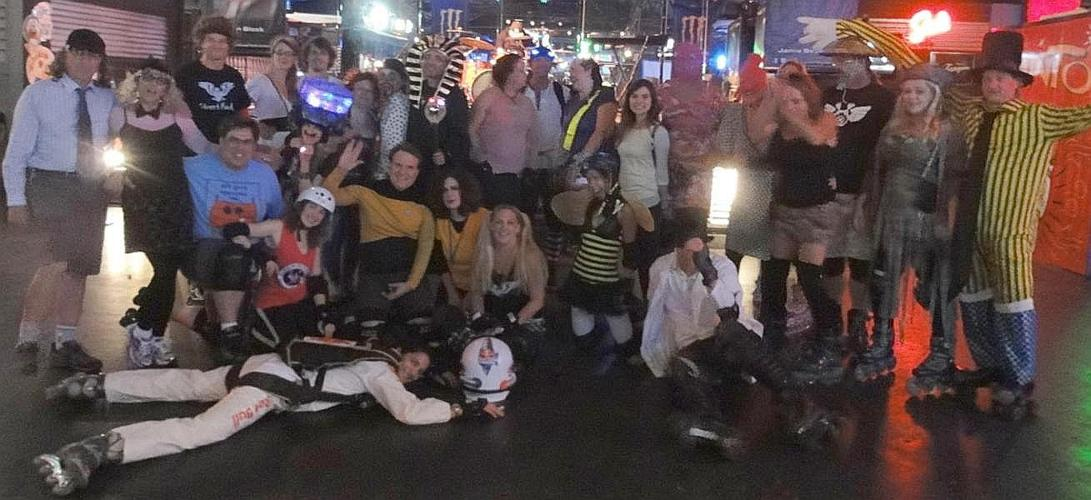 Group picture 2012 Halloween Skate